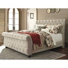 ashley furniture willenburg king upholstered bed in linen local