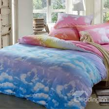 lovely clouds and blue sky patterns cotton 4 piece bedding sets