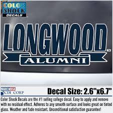 alumni decal longwood bookstore colorshock alumni decal