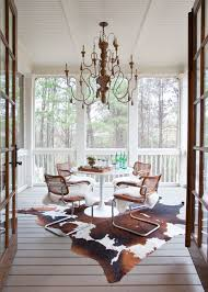 Where To Buy Cowhide Rugs Outdoor Chandeliers For Your Special Spring Spots Wooden Decks