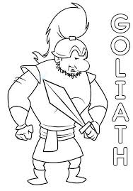 david and goliath coloring pages the goliath coloringstar