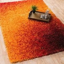 Red And Orange Rug Soft Cozy Solid Orange Indoor Shag Area Rug 7 U002710 X 10 U0027 Free