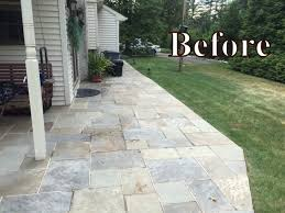 How To Regrout Patio Slabs Replacing The Cement Between Flagstones Devine Escapes