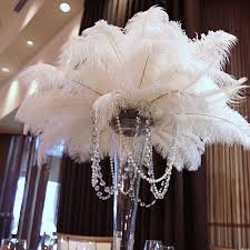 ostrich feather centerpieces wholesale 50 pcs 35 40 cm 14 to 16 white ostrich plumes
