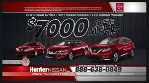 nissan maxima price 2017 hunter nissan july 2017 offers 7000 off msrp on maxima altima