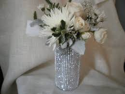 Crystal Vases For Centerpieces Rhinestone Crystal Ribbon Bouquet Vases Centerpiece Bling
