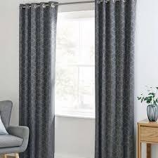 Dunelm Curtains Eyelet Jasper Geo Grey Blackout Eyelet Curtains Dunelm New House Wish