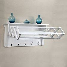 Drying Racks For Laundry Room - extendable clothes drying rack laundry storage towel wall shelf