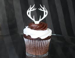 deere cake toppers deer antler cupcake toppers x12 acrylic 12 00 via etsy