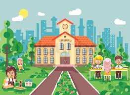 classmates book stock vector illustration children characters schoolboy