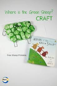 green sheep craft kidz activities