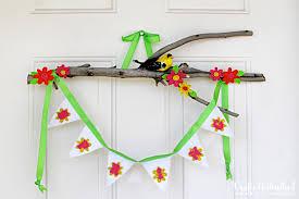 spring decor bird on a branch door hanger