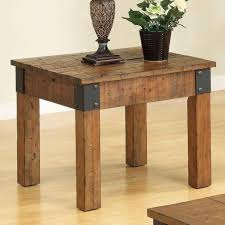Wood Plans For End Tables by Antique Style Wood End Table With Decorative Metal Brackets U2014buy