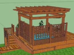 Wood Pergola Plans by Arbor For Jaccuzi Pergolas And Awnings Designs Ideas And