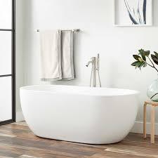 Choosing A Bath Tub Big Enough To Soak In I Change My Kohler Boyce Acrylic Freestanding Tub Bathroom