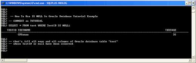tutorial oracle stored procedure exles use of is null oracle database tutorial exle