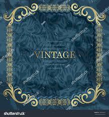 Cover Invitation Card Vintage Invitation Card Retro Frame On Stock Vector 109263833