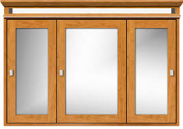 Tri View Medicine Cabinet With Inset Style Doors With Led Lights