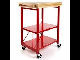 folding kitchen island cart origami folding kitchen island cart youtube intended for pretty