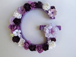 custom name letter purple letter g flower name letter flower