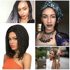 2017 latest box braids hairstyles for afro american women