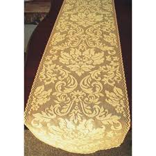 table runner heritage damask 14x49 colonial gold heritage lace