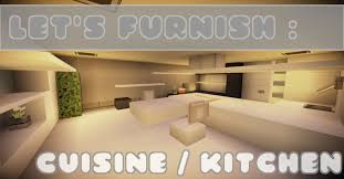 minecraft let u0027s furnish tuto cuisine kitchen youtube