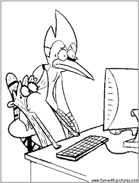 100 ideas printable coloring pages regular show on