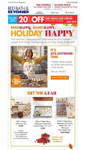 Bed Bath And Beyond Berkeley Thanksgiving Day Email Examples Yes Lifecycle Marketing