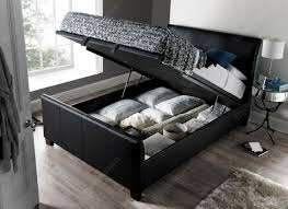 Ottoman Bed Black Kaydian Allendale Leather Ottoman Storage Bed
