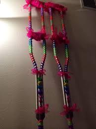 25 unique decorated crutches ideas on crutches diy