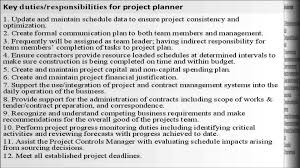 Sample Resume Of Project Coordinator Project Planner Job Description Project Coordinator Job