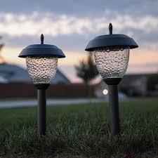 solar path lights reviews review set of 8 glass high output led solar path lights gunmetal