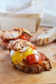 cuisine plus fr recettes bruschetta mozzarella tomates cerises et poulet sauce barbecue