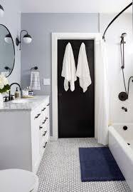 modern traditional bathroom refresh emily henderson open plan