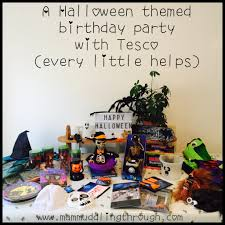 a halloween themed birthday party with tesco every little helps