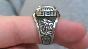 highschool class ring school motorcyclist or just high school class ring i
