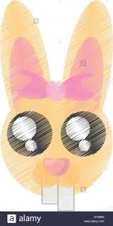 cartoon cute easter face bunny stock photos u0026 cartoon cute easter