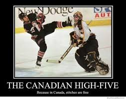 Canada Hockey Meme - because in canada stitches are free giggles pinterest