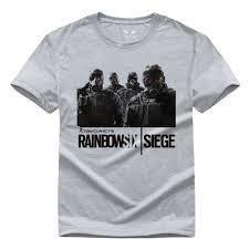 siege design rainbow six siege t shirt tom clancy print original design fashion