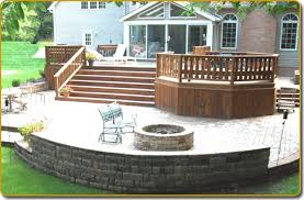 Landscape Deck Patio Designer Decks Patios Hardscape Installation Hoehnen Landscaping