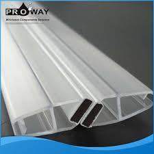 proway shower door seal silicone pvc waterproof frameless