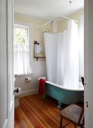 Claw Foot Tub Shower Curtains Clawfoot Tub Shower Curtain Ideas Bathroom Beach Style With Cafe