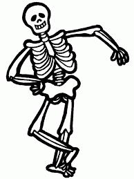 skeleton coloring pages free large images