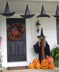 halloween decorations for doors cute halloween front porch decorations to greet your guests
