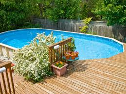Pool Landscaping Ideas by In Ground Vs Above Ground Pools Ground Pools Deck Patio And