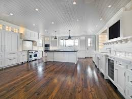 White Kitchen Cabinets Dark Wood Floors by Hardwood Floor Kitchen