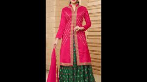 modern fashionable women long crop top lehenga dress design ideas