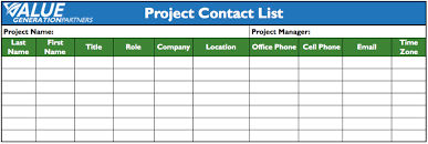 generating value by using a contact list u2013 value generation