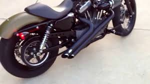 2008 harley davidson nightster with vance u0026 hines side shots